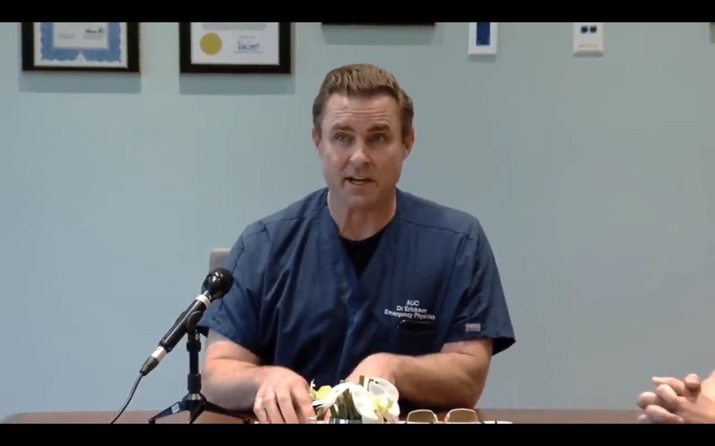 EXKLUZIVNĚ: Dr. Erickson odhaluje nová zjištění: Koronavirus se podobá chřipce.
