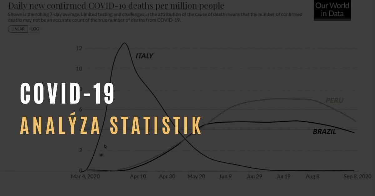 Analýza evropských statistik COVID-19